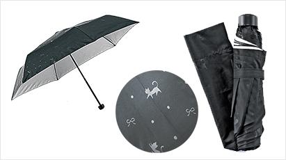 キャットリボン晴雨兼用折りたたみ傘