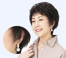 肌にフィットするテクロート加工により、もみあげ部分の浮きを抑えます