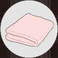 吸水性の良いタオル